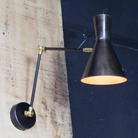 Handgefertigte Eisenlampe mit Aluminiumschirm Made in Italy - Selina