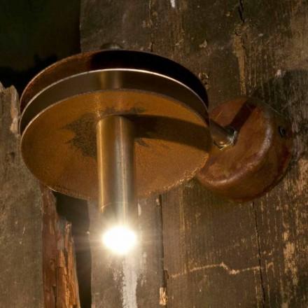 Handgefertigte Lampe aus Eisen Corten und Messing Finish Made in Italy - Solano