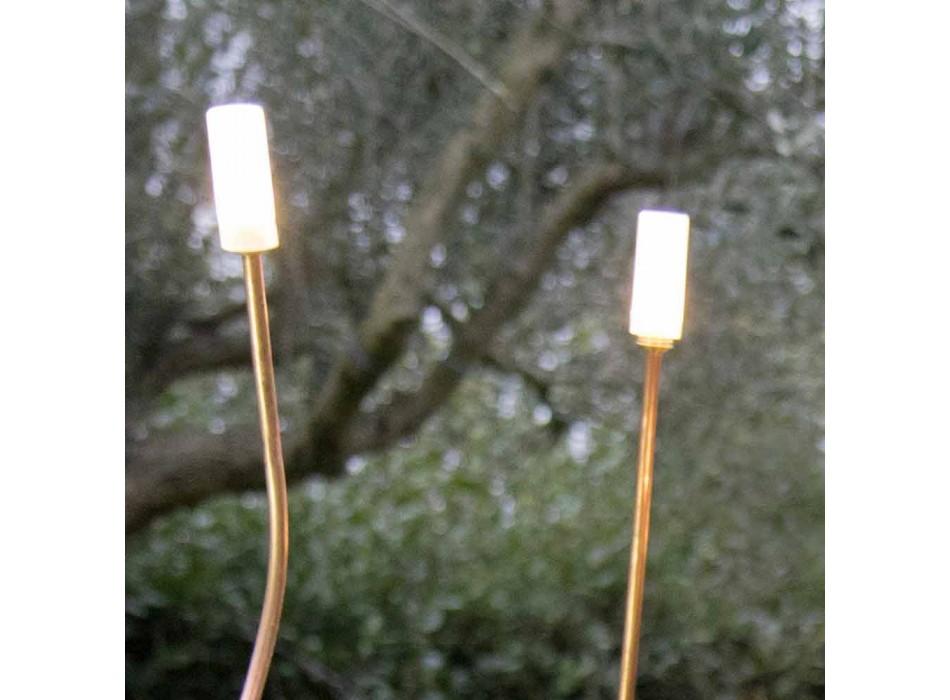 Außenlampe aus natürlichem Kupfer mit dekorativem Glas Made in Italy - Fusillo