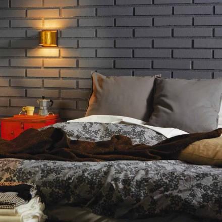 Moderne Wandlampe aus Messing und Stahl 11x H11xsp.12 cm Bernadette