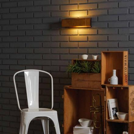 Design Wandlampe aus Messing und Stahl 35xH 10xsp.9 cm Harya