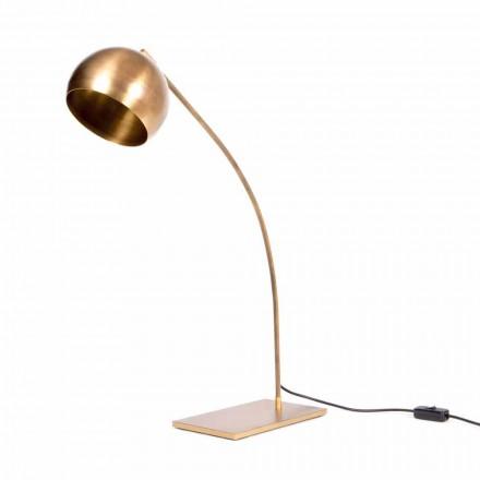 Handgefertigte Tischlampe aus Eisen und brüniertem Messing Made in Italy - Brina