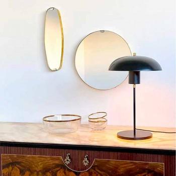 Artisan Design Tischlampe aus Eisen und Aluminium Made in Italy - Marghe