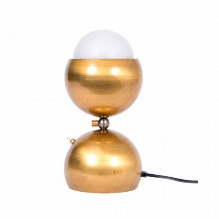 Handmade Design Tischlampe aus Messing und Glas Made in Italy - Gandia