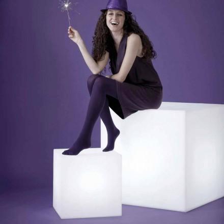 Weiße tisch- / bodenförmige lampe Slide Cubo, made in Italy