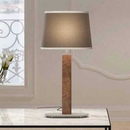 Metall Tischlampe mit Stoff Lampenschirm Made in Italy - Jump