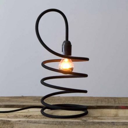Moderne Tischlampe aus Kupfer in Baumwolle Made in Italy - Fusilla