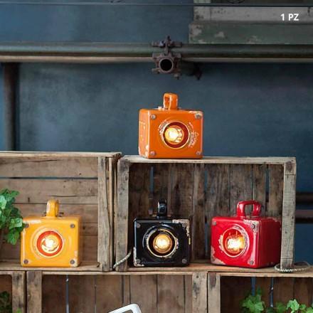 Tischlampe im Industrial Look aus Keramik und Eisen Valerie