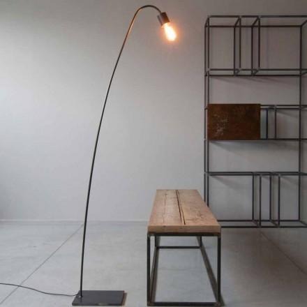 Artisan Design Stehlampe aus schwarzem Eisen Made in Italy - Curva
