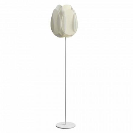Stehlampe mit weißem Perlmuttschirm, Durchmesser 40xH195 cm, Lora
