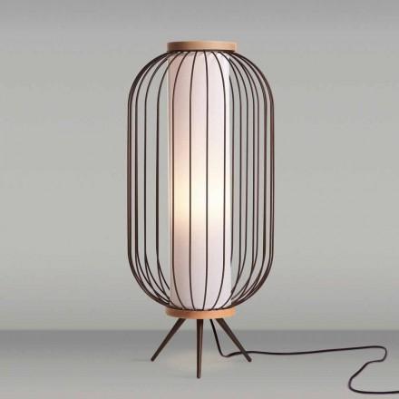 Modernes Design Stehlampe aus Stahl Durchmesser 37xH80 cm Fanny