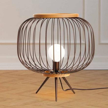 Modernes Design Stehlampe aus Stahl 48xH 52 cm Leira