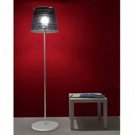 Stehlampe, entspiegeltem Lampenschirm und farbiger Dekoration, Shana H183cm