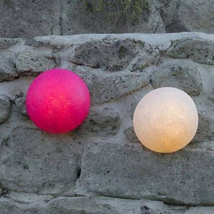 Designer Wandleuchte In-es.artdesign Button aus farbigem Nebulite