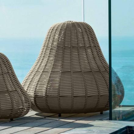 Design große Gartenlampe Jackie Talenti aus synthetischem Stoffgeflecht