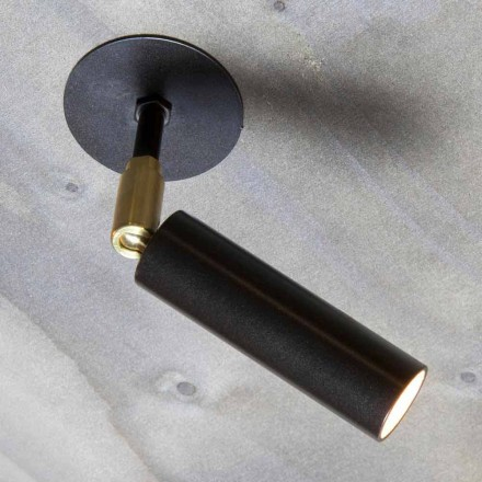 Handgefertigte Aluminiumlampe mit einstellbarem LED-Licht Made in Italy - Radia