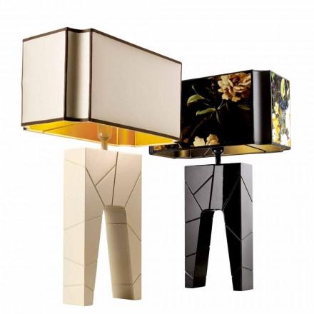Tischlampe aus Massivholz Grilli Zarafa made Italy
