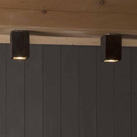 LED-Außendeckenleuchte aus Ton, Smith-Toscot