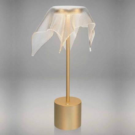 LED-Lampe aus farbigem Metall und transparentem prismatischem Plexiglas - Tagalong