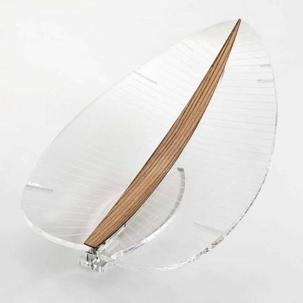 LED-Lampe aus transparentem Plexiglas Gold Silber oder Design Holz - Nebelscheinwerfer