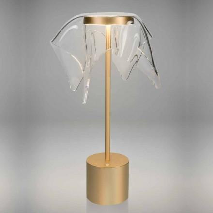 Touch LED-Lampe aus farbigem Metall und transparentem Plexiglas - Tagalong