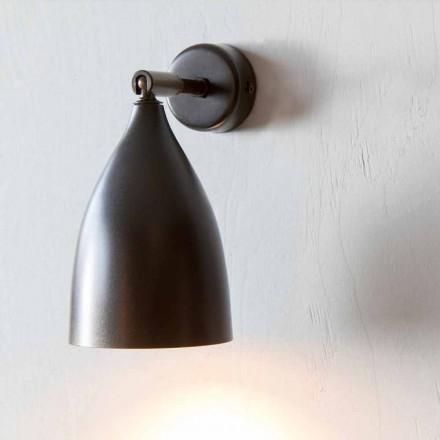 Artisan Wandleuchte aus Eisen und Aluminium Made in Italy - Conica