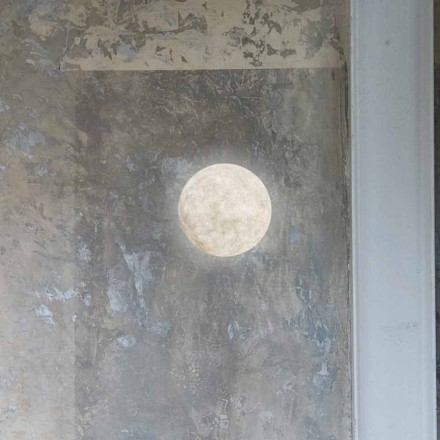 Moderne Wandleuchte In-es.artdesign A. Moon in Nebulite