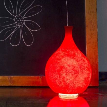 Moderne Tischlampe In-es.artdesign Luce2 in Nebulite