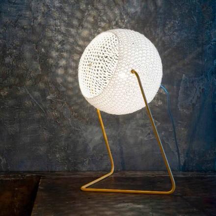 Moderne Tischlampe In-es.artdesign Handgefertigte T1-Textur aus Baumwolle