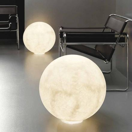 Moderne sphärische Tischleuchte In-es.artdesign Floor Moon-Nebel