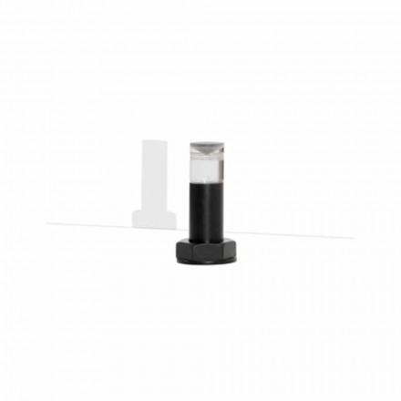 Moderne Tischlampe aus Black Metal und Plexiglas Made in Italy - Dalbo