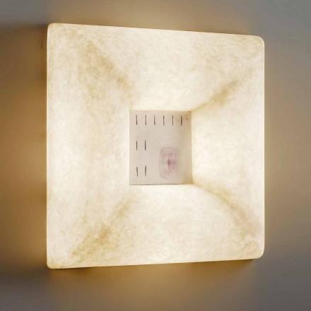 Wandleuchte aus weißem Nebulite In-es.artdesign Dada Luna 1 Design