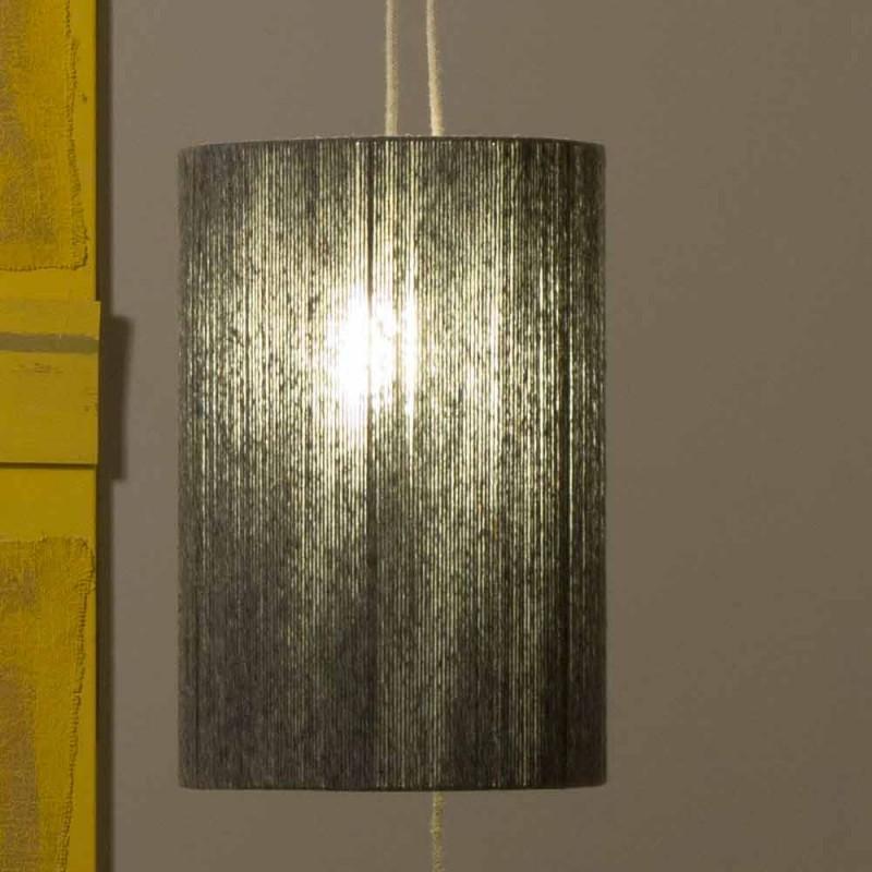 Hängelampe Stehlampe aus Messing und Wolle made in Italy Evita