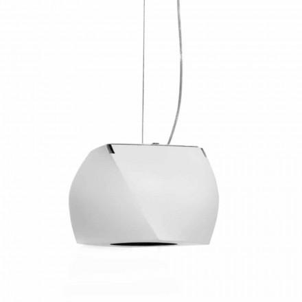 Hängende Designlampe aus Metall und weißem Harz Hergestellt in Italien - Peking