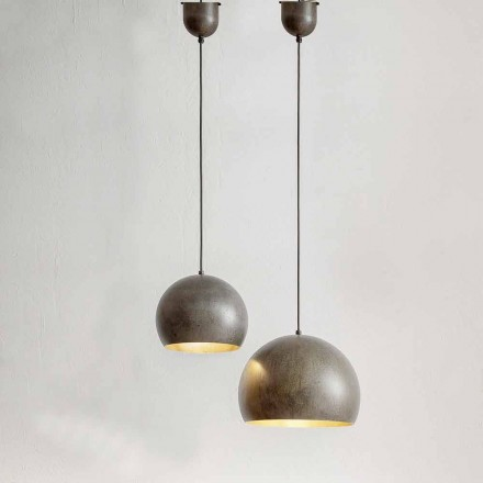 Hängeleuchte aus Stahl  – Materia Aldo Bernardi