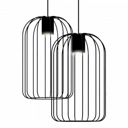 Moderne Hängelampe mit Metalldrahtstruktur Made in Italy - Cage