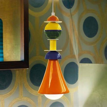 Moderne mehrfarbige Pendelleuchte Slide Otello Hanging, hergestellt in Italien