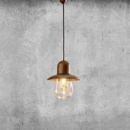 Hängelampe Vintage mit reflektor aus Messing – Guinguette Aldo Bernardi