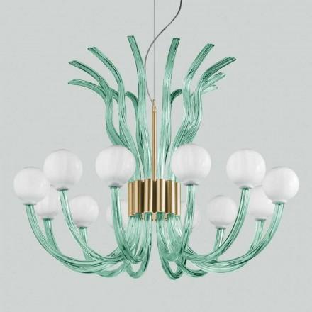 Artisan Glas Kronleuchter mit 12 Lichtern aus Venedig, Made in Italy - Antonietta
