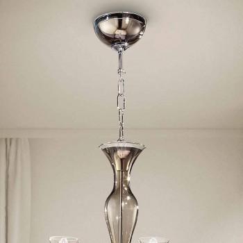 Artisan 8-flammiger Kronleuchter aus venezianischem Rauchglas Made in Italy - Vittoria