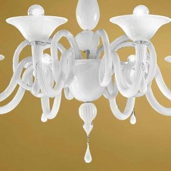 Artisan 8-flammiger Kronleuchter aus Venedig-Glas, Made in Italy - Margheritagh