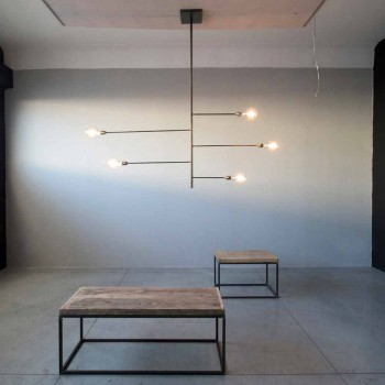 Artisan Design Kronleuchter mit Eisenstruktur Made in Italy - Tinna