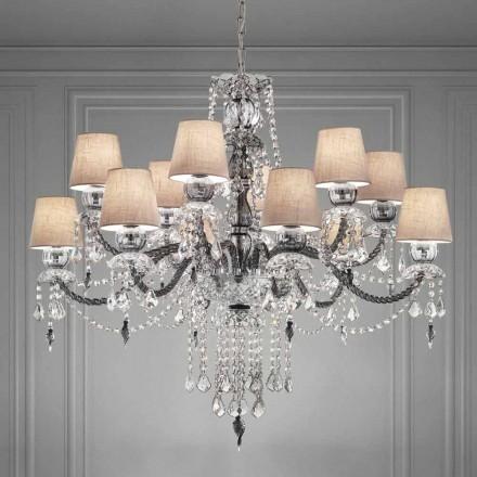 Artisan Venezianischer Glas Kronleuchter 12 Lichter, Made in Italy - Milagros