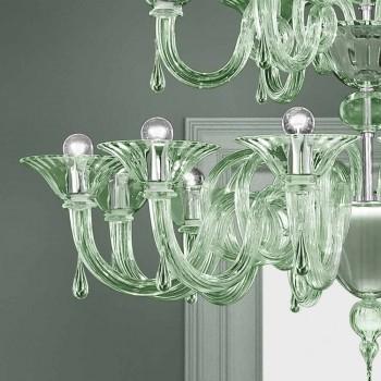 18-flammiger venezianischer Glas-Kronleuchter handgefertigt in Italien - Margherita