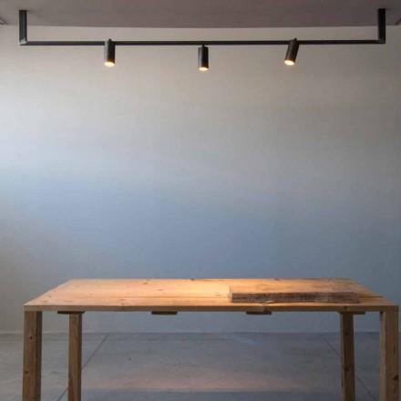 Kronleuchter in modernem Design, handgefertigt aus schwarzem Eisen, hergestellt in Italien - Pamplona