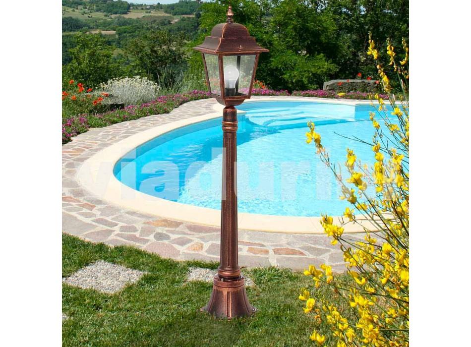 Niedrige Außenlampe aus Aluminium, hergestellt in Italien, Aquilina