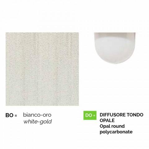 Anusca Wandlaterne für den Außenbereich aus weißem Aluminium made in Italy
