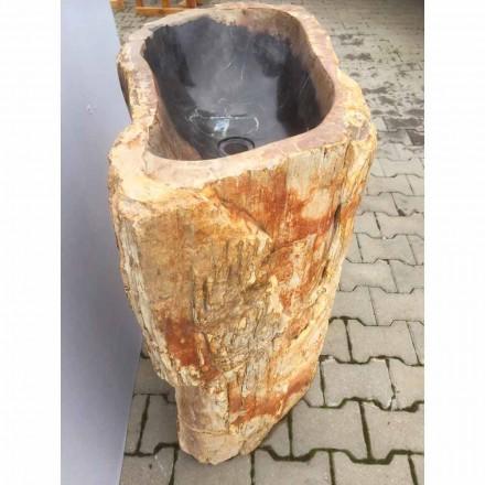 Handgearbeitetes freistehendes Waschbecken aus Naturstein Ley