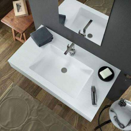 Modernes Wand Hängewaschbecken aus Texolid in Italien hergestellt, Rufina
