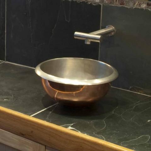 Sink Design-Unterstützung Kupfer Finish Nickel satiniert pur